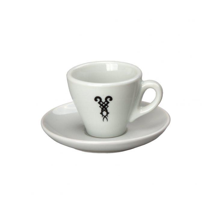 Espressotasse mit Bazzar-Logo